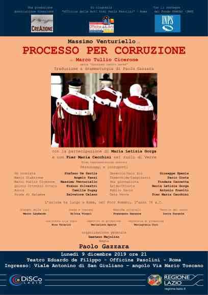 locandina processo per corruzione